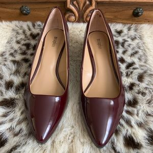 Burgundy Patten Leather Heels
